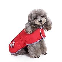 Pet Dog Two Sides Reflective Wear Fashion Autumn and Winter Warm Coat Cotton-Padded Dowan Jacket Clothing