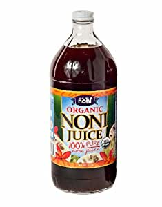 Organic Hawaiian Noni Juice - 32 Ounce Glass Bottle