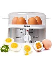 Duronic EB35 Eierkoker   350 W Stomer met Alarm & Timer   Voor Zachtgekookt Halfzacht & Hardgekookt Ei   Inclusief Eierprikker & Maatbeker voor Water   Roestvrij Staal