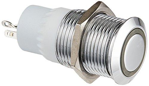 16 Led Mm 24v (Uxcell 24V 3A 16mm LED Angle Eye SPDT Momentary Flat Push Button Switch)