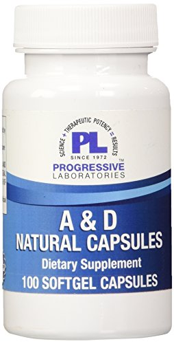 Progressive Labs A and D Natural Soft Gel, 100 Count