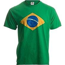 BRAZIL NATIONAL FLAG Unisex T-shirt / Bandeira do Brasil, Brazilian Tee