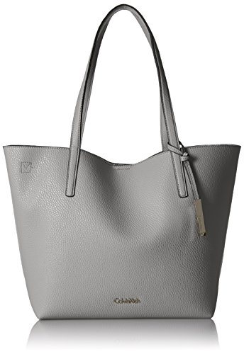 Calvin Klein Unlined Novelty Chemtech Tote, Grey by Calvin Klein