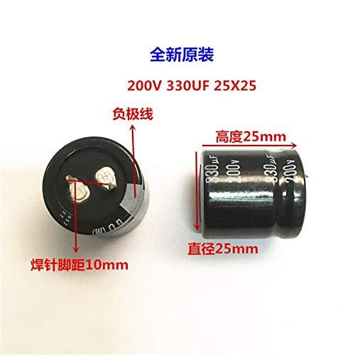 2PCS//10PCS 330uf 200v Nichicon GU 25x25mm 200V330uF Snap-in PSU Capacitor CHAIENSLIVER