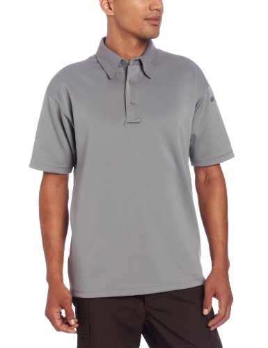 Propper Men's I.C.E. Men's Short Sleeve Performance Polo Shirt, Grey, X-Large Regular