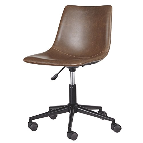 Ashley Furniture Signature Design - Adjustable Swivel Office Chair - Casual - (Brown Modern Furniture)