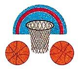 Bulk Roll Prismatic Stickers, Mini Basketball (100 Repeats)