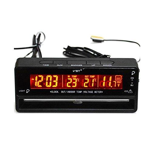 Flameer Digital Clock Temperature Meter Thermometer Car Volt Measuring TS-7010V by Flameer (Image #7)