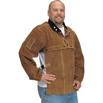Black Stallion 220CS Cowhide Welding Cape Sleeve w/20'' Bib Combo, Larg