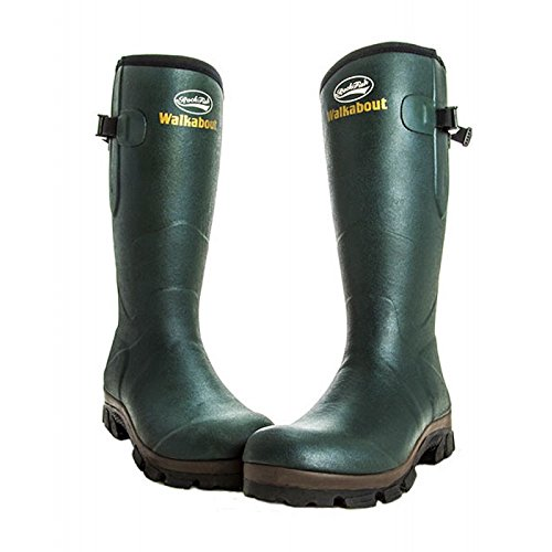 Wellies Fit Lined Walkabout Green Men's Neoprene Adjustable Rockfish Calf 6PE1w