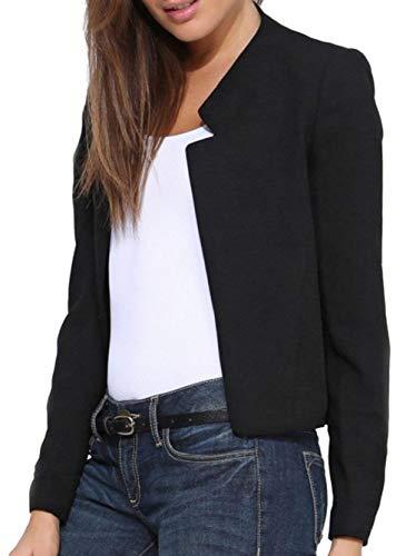 Manteau Slim Unicolore Blouson Printemps Costume Fit Veste Femme Loisir Office Manches Affaires Branch Longues de Elgante Automne Schwarz Blazer nico FtxZqtn