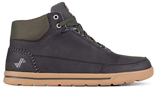 Forsake Phil Mid - Men's Waterproof Leather Mid-Top (11 D(M), Black)