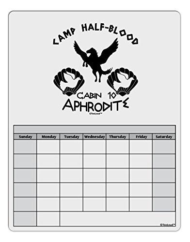 [TooLoud Cabin 10 Aphrodite Camp Half Blood Blank Calendar Dry Erase Board] (God And Goddesses Costume Aphrodite)