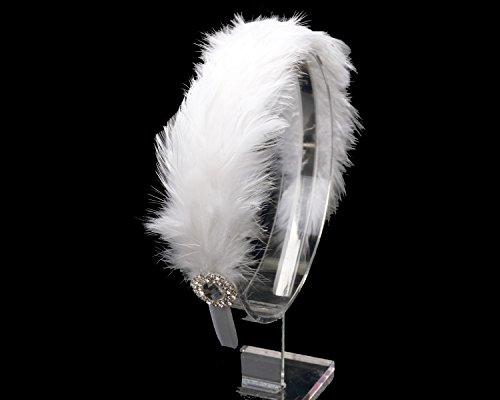 White Swan Feathers Headpiece,Rhinestone Ballet Headpiece,Swan feathers costume headpiece,Feathers headpiece,Custom Headpiece ()