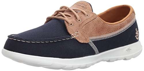 Skechers Performance Women's Go Walk Lite-15430 Wide Boat Shoe,navy,9.5 W US