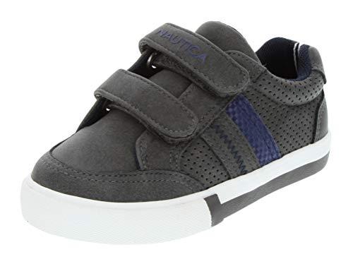 - Nautica Kids Hull Toddler Adjustable Straps Sneaker Fashion Shoe-Grey Pu-5