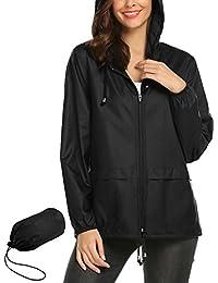 Lightweight Waterproof Raincoat For Women Windbreaker...