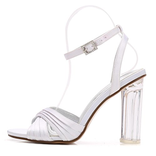 L@YC Mujeres abren Los Zapatos De Boda Del Dedo Del Pie F2615-7 Zapatos De Baile De Dama/Fiesta Red