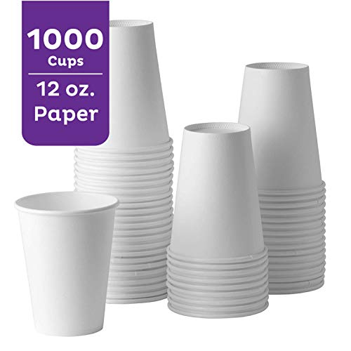 A World Of Deals 1000/Case 12 oz Disposable Cold Paper Cups, White by A World Of Deals