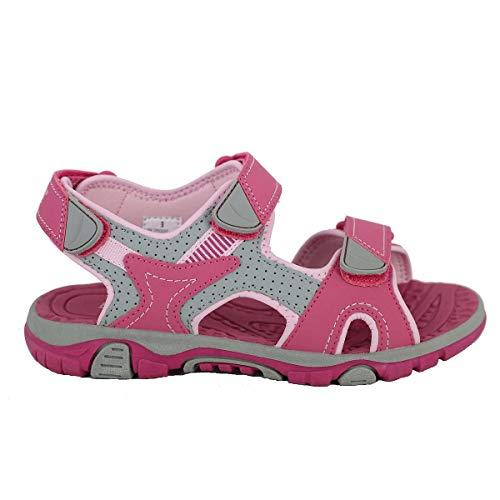 Khombu Girls' River Sandal Pink/Grey Size 3 best to buy