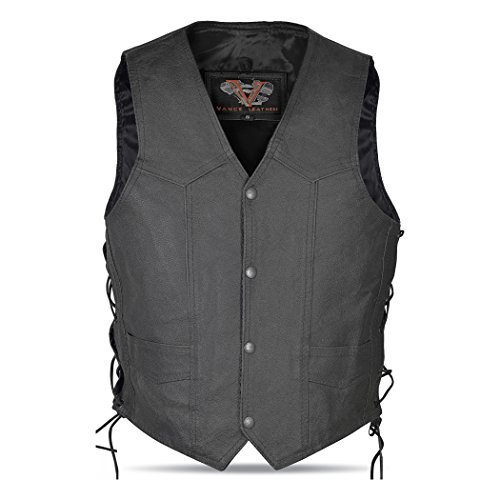 - Kids Lined Lace Side Milled Leather Vest