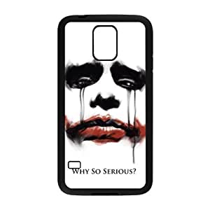 Danny Store Serious Joker Face Protective TPU Rubber Back Fits Cover Case for Samsung Galaxy S5