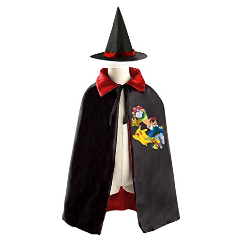 Pokemon Kids Childrens' Halloween Costume Cloak Cape Robe Wizard (The Outsiders Halloween Costumes)