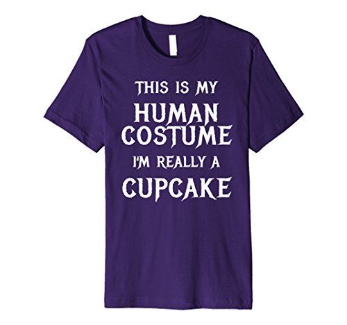 Cup Cake Costumes Ideas (Mens Cupcake Halloween Costume TShirt Easy Funny for Girls Women 2XL Purple)