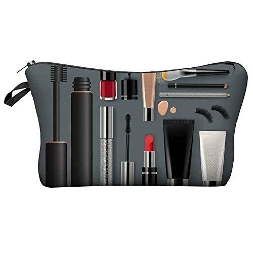 MOVEmen Handbags, Women Letters Printing Makeup Cosmetic Bag Toiletry Storage Travel Wash Bag Handbag Pencil Case Card Package Coin Purse Lipstick Makeup Brush Box Storage Toolbox (A)