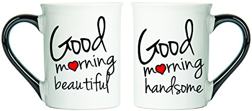 Good Morning Beautiful And Good Morning Handsome Mugs, Set Of Two Coffee Cups, Spouse Mugs, Ceramic Mugs, Custom Gifts By Tumbleweed