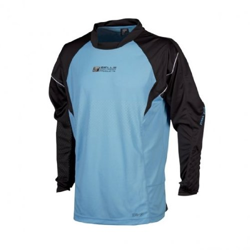 Sells Rebel Long Sleeve Goalkeeper Jersey, Aqua - Adult - Clothing Sells Goalkeeper