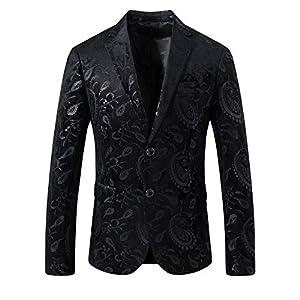 SuiSional Men's Luxury Dress Slim Fit Tuxedo Suit Jacket and Stylish Blazer