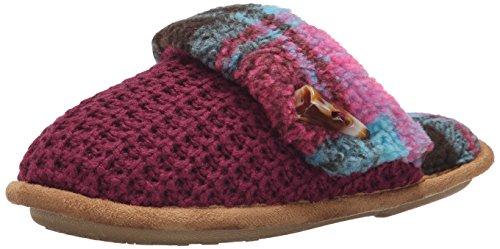 Cuddl Duds Women's Lilac Slide Flat - Berry - 5-6 B(M) US