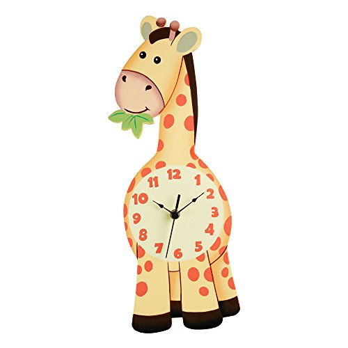 Safari Kids Wall Clock, Yellow/Giraffe (Safari Giraffe)