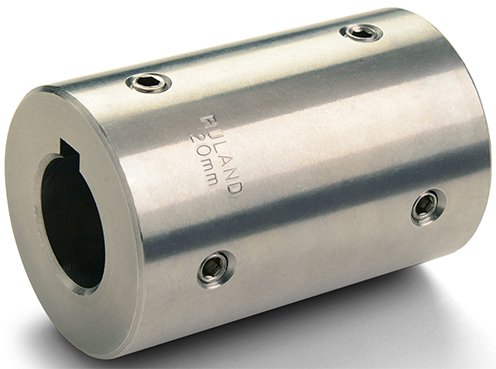 Ruland Manufacturing Co Inc MSCC-50-50-SS Side 1 14 mm Bright 303 Stainless Steel Side 2 50 mm 85 mm OD Set Screw Rigid Coupling Bore Bore Keyway Keyway Side 1: 50 mm Si