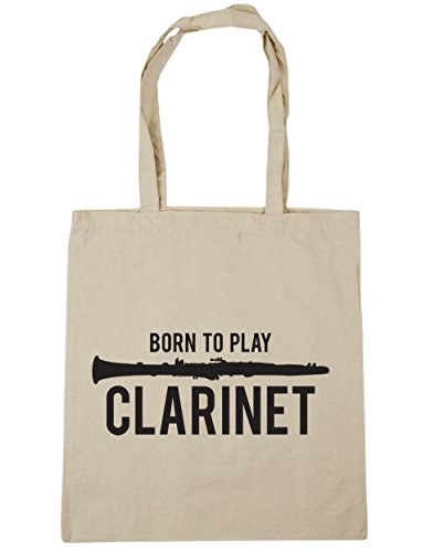Tote HippoWarehouse 42cm x38cm litres Natural Bag Born Shopping Gym Beach Play Clarinet to 10 vIfq7I