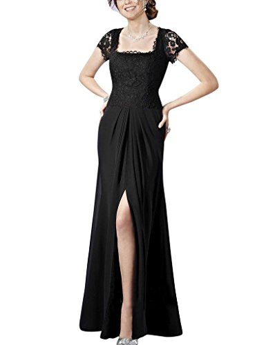 H.S.D Lace Split Side Chiffon Long Mother Of The Bride Dresses Formal Gowns