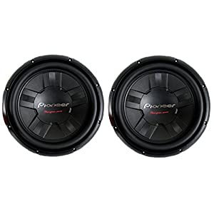 2) Pioneer 12 Inch 2800W Subwoofers Car Audio 4-Ohm DVC Subs Pair | TS-W311D4