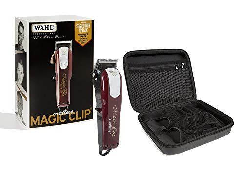 Wahl Professional 5-Star Cord/Cordless Magic Clip #8148 with Travel Storage Case #90728 (Best Clippers For Fades)