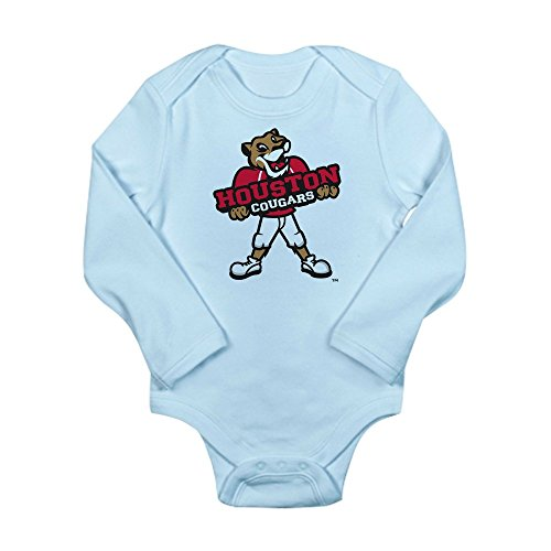 CafePress Houston Cougar Kids MA - Cute Long Sleeve Infant Bodysuit Baby Romper -