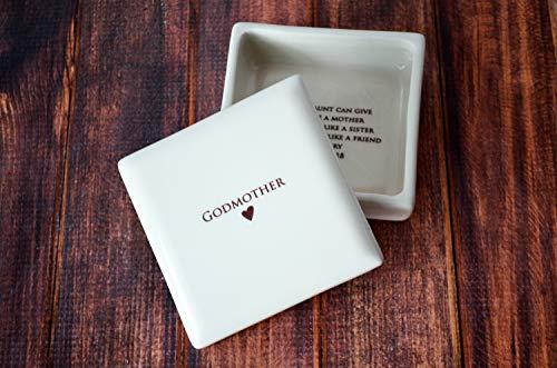 (Godmother Gift, Godmother Gift Idea, Godparent gift, Godparent Gift for Baptism, Godparent Gift Idea - SHIPS FAST - Square Keepsake Box)