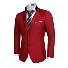 Coofandy Men's Casual Dress Suit Slim Fit Stylish Blazer Coats Jackets