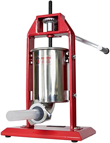 - VIVO Sausage Stuffer Vertical Stainless Steel 3L/7lbs 5-7 Pound Meat Filler (STUFR-V003)