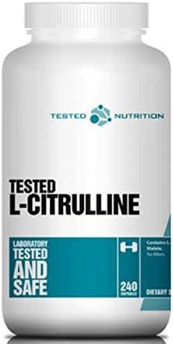 Tested Nutrition L-Citrulline Malate Muskelaufbau Fitness - 240 Kapseln