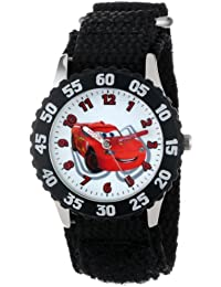 Kids' W001034 Cars Stainless Steel Time Teacher Black Bezel Black Nylon Strap Watch