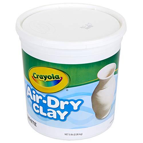 Crayola BIN575055BN Air Dry Clay, 5 Lb. Size, White, MultiPk 2 Each