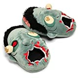Oversized Plush Slippers That Look Like Zombie Heads - Zombie Plush Slippers