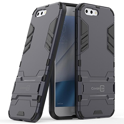 Asus Zenfone 4 Case, CoverON Shadow Armor Series Modern Style Slim Hard Hybrid Phone Cover with Kickstand Case for Asus Zenfone 4 - Navy