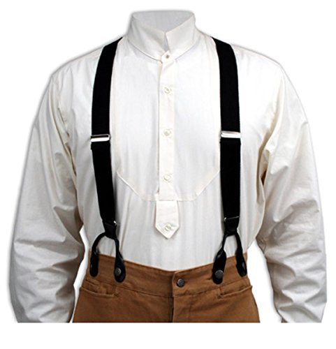 Tall Available New CTM Men/'s Canvas Button-End Old West Suspenders