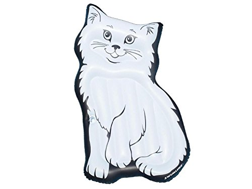 Inflatable Swimming Pool Lounging Black and White Purrrfect Kitty Mattress Ages 7 and Up 79
